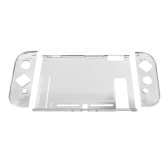 Para Nintend Switch Case Hard Crystal Protetora Transparente Capa Shell para Nintend NS NX Switch Console Case Capa + Polegar Caps Branco
