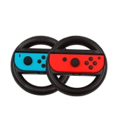 2pcs Steering Wheel Handle Ergonomic Design Anti-Slip Joy-Con Grip Racing Game Protective Case for Nintendo Switch Controllers Black