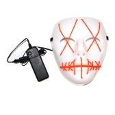 Máscara de Halloween EL Wire LED Light Mask