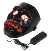 Маска для Хэллоуина EL Проволочная светодиодная маска