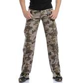 Мужские брюки-карго Камуфляж Военный Открытый Длинные брюки Тактические повседневные брюки хлопок хаки / зеленый