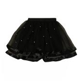 Moda dziewcząt Dzieci Wielokolorowe Tulle Spódnica Mesh Perły Solid Color Sweet Słodkie Dzieci Princess Tutu Net Spódnice Przędzy
