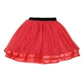 Moda meninas crianças hierárquico pérolas de malha saia tule cor sólida crianças bonitinho doce princesa Tutu Net fio saias