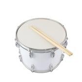 マーチングドラムドラムスティックキーストラップホワイト14 x 10インチ