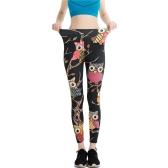Casual Funny Elastic Printed Pants Sexy Graffiti Leggings Ladies Yoga Running Leggings Pants