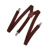 Nova moda homens mulheres Clip em suspensórios elásticos da Y-forma volta Formal Unisex ajustáveis chaves