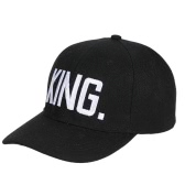 Los hombres y las mujeres forman la REINA REY Gorra de béisbol Casquillos de la impresión de la letra de Hip Hop Sombreros de Snapback de la pareja