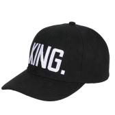 Homens e mulheres de moda QUEEN KING Boné de beisebol Hip Hop Letter Print Caps Couple Snapback Hats