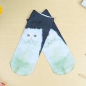Nuovo Sexy calze Unisex variopinto sveglio del fumetto 3D stampa taglio basso calzini Casual