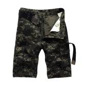 Nuevo verano cargo de los hombres pantalones cortos de camuflaje Multi-bolsillos camping Military Style trabajo cortocircuitos ocasionales sin cinturón