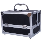 "9""x6""x6"" SM-2176 Aluminum Makeup Train Case Cosmetic Organizer with Mirror"