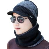 Męska czapka z daszkiem prążkowany Kolor Block Outdoor Sport Hip Hop Casual Warm Winter Headwear Cap