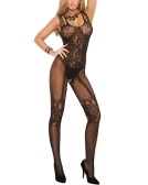 Sexy Women Bodystocking Lingerie Fishnet One Piece Jumpsuits Sheer Lace Mesh Bodycon Bodysuits Babydoll Nightwear