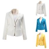2012 stiilsed naiste bleiser jope mantel tuunika Casual ülikond kokkupandav varrukas