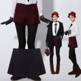 Womens Shorts calças de lã
