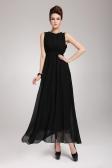 2013 uut suve Böömi Beach naiste kleit Chiffon Split päitsed Backless kaua Maxi kleit Partei õhtul Black