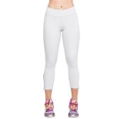 Neue Fashion Damen Capri Leggings schlanke Taille Candy Farbe Zipper Manschette abgeschnitten Pants Yoga Laufhosen