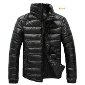 Casacos de inverno do Mens aquecer Parkas jaquetas de gola stand-up