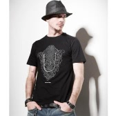 2013 t-shirt collo-O T Shirt estate Casual uomo stampa maniche corte Tee Tshirt Black