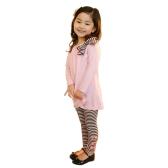 New Fashion Dziewczyny dla dziewcząt Odzież Zbiór Bowknot Pullover Topy Spodnie Spodnie Różowe / Ciemnoniebieskie