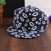 Moda coreano donne uomini Cap bocca stampa luminosa Baseball cappello Hip Pop Hat Unisex Black/Dark Blue