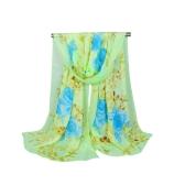 Mode Frauen Chiffon Schal Kontrast Floral Print langer Schal Pashmina