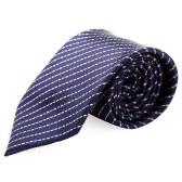 Tecidos de moda gravata gravata poliéster listra do Jacquard noivo casamento masculina