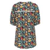 Mode Frauen Floral Bluse
