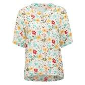 Blusa floral das mulheres da forma