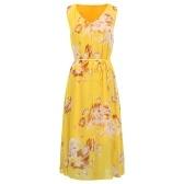 Neue Frauen Sommer Maxi Chiffon-Kleid