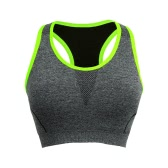 Nuova moda donne sport Reggiseno Push Up dorso a vogatore Wireless Mesh imbottito tazza piena Yoga Fitness Tank Top