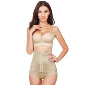 Las mujeres de cuerpo caliente Shaper cintura entrenador abdomen cadera Control corsé postparto adelgazantes fajas bragas ropa interior Beige