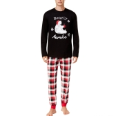 New Men Set in due pezzi Pajama Christmas Sleepwear O-Collo maniche lunghe Casual House Coat Top pantaloni neri