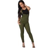 Mulheres Denim Dungarees Macacões Ajustáveis Botas Botas Jumpsuits Calças magras Calças Jeans Calças Calças