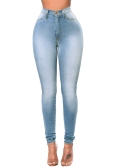 New Sexy Women Skinny Denim Jeans Classic High Waist Washed Slim Pants Tights Pencil Trousers Dark Blue/Blue/Light Blue