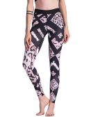 Mode Frauen Leopard Print Sporting Leggings Hohe Elastische Dünne Hosen Fitness Gym Workout Leggings Hosen Schwarz