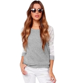 Mulheres Camisa de crochê Manga comprida Aqueia Lace Loose Casual Pullover Top Backless T-Shirt Preto / Bege / Grey
