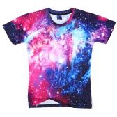 Koszulka letnia Fashion Loose 3D z krótkim rękawem Vivid Printing dla mężczyzn i kobiet