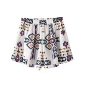 Imprimir mulheres calças chiffon curtos cintura elástica Verão Terceiro Shorts Causal Praia Hot calcinha branca