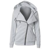 Camisola nova das senhoras das mulheres Camisola encapuçado da capa longa do inverno do inverno do outono Camisola macia quente do Streetwear