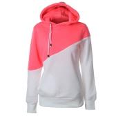 Mode-Frauen-Kapuzenpullis Häkelarbeit-lange Hülsen-Taschen beiläufiger Hoodie-Pullover