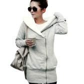 New Autumn Winter Women Hoodies Coat Warm Coat Zipper Outerwear Mochilas com capuz Casual Long Jacket Plus Size