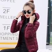 New Winter Autumn Women Duck Down Veste à capuche Zipper manches longues Slim Light Down Coat