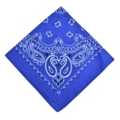 Men Women Square Scarf Paisley Bandana Hair Band Neckerchief Hip Hop Castiçal Unisex Headwear
