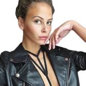 Nueva Sexy Women Strappy Bra Halter cuello recortable Bikini sujetador exótico elástico lencería Bralette negro