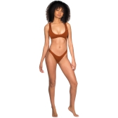 Women One Piece Swimsuit Swimwear Plunge Neck Cut Out Backless Bathing Suit Beachwear Monokini