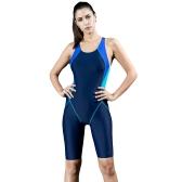 Fashion Women Sports One Piece Swimsuit Full Brief Knee Professional Купальники Monokini Купальный костюм для похудения Bodysuit