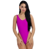 Mujeres sexy de una pieza Push Up Bikini Swimwear Monokini High Cut Backless Leotard tanga Body