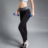 Moda mulheres Yoga esportes calças alta estiramento Fitness ginásio Running calças Leggings de exercício