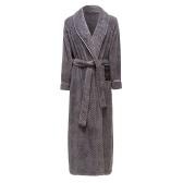 Мужской халат Abody, плюшевый флисовый шаль, воротник, длинный рукав, пояс, пояс, боковой карман, теплый халат, домашняя одежда